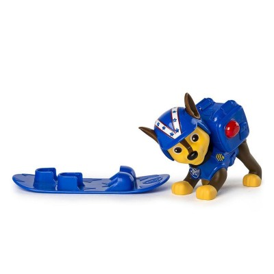 Spin Master Figurine Pat'Patrouille (PAW Patrol) : Sac à dos Hiver : Snowboard Chase