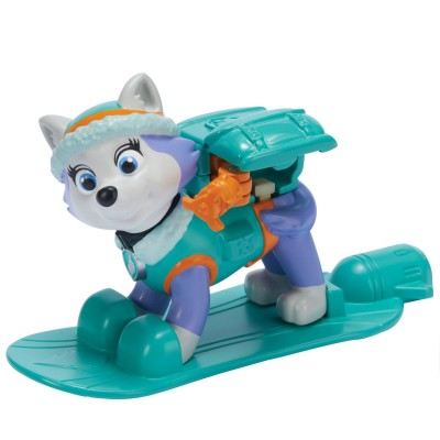 Spin Master Figurine Pat'Patrouille (PAW Patrol) : Sac à dos Hiver : Snowboard Everest