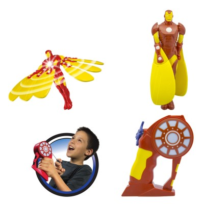 Bandaï Figurine avengers : flying heroes : iron man lumineux