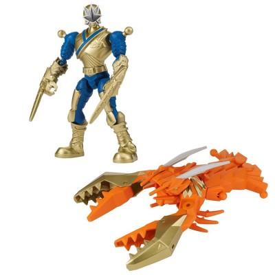 Bandaï Figurines power rangers mixx n'morph 15 cm : ranger doré et crustazord samurai