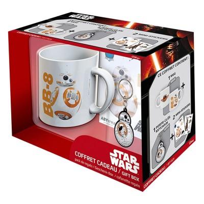 Aby Style coffret cadeau star wars : mug, porte-Clés et stickers : bb-8