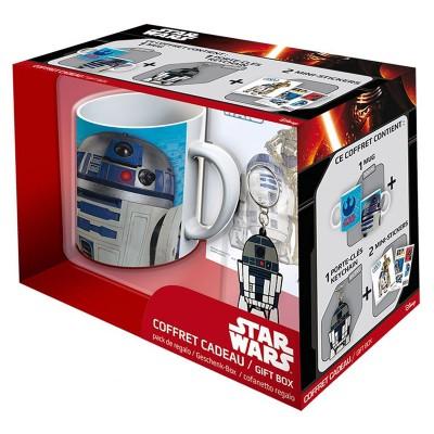 Aby Style coffret cadeau star wars : mug, porte-Clés et stickers : r2-d2