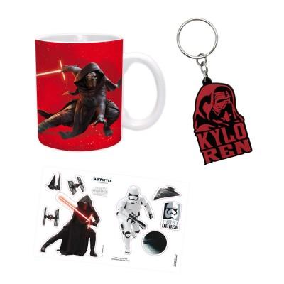 Aby Style coffret cadeau star wars : mug, porte-Clés et stickers : kylo ren