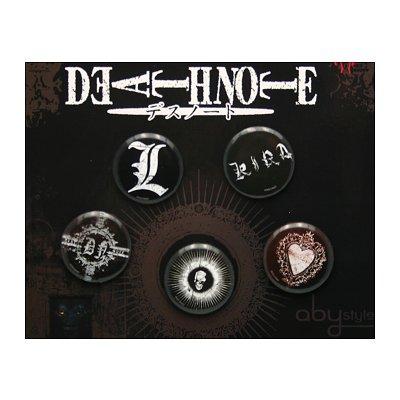 ABY Style Badges par 5 Death Note : Vintage
