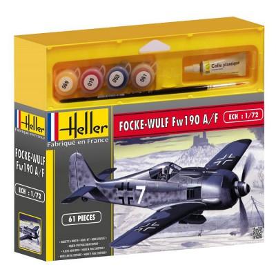 Heller Maquette avion : Kit complet : Focke Wulf Fw 190 A/F