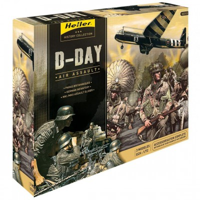 Heller Figurines 2ème Guerre Mondiale : Kit complet : D-Day Air Assault