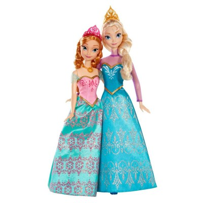 Mattel Poupées La Reine des Neiges (Frozen) : Coffret duo Anna et Elsa