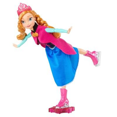 Mattel Poupée La Reine des Neiges (Frozen) : Anna reine du patinage