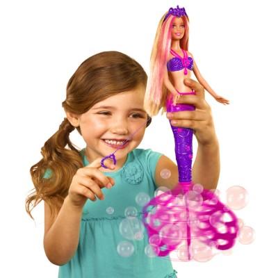 Mattel Poupée Barbie : Sirène bulles magiques