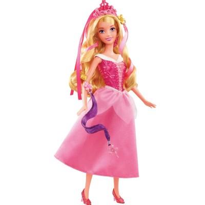 Mattel Poupée mannequin Coiffure de princesse : Aurore (La Belle au Bois Dormant)