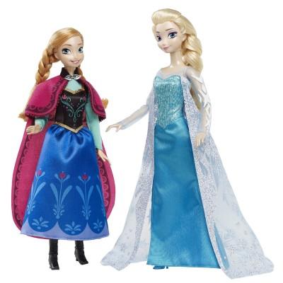 Mattel Poupée Disney Classique Collection : La Reine des Neiges : Anna et Elsa d'Arendelle