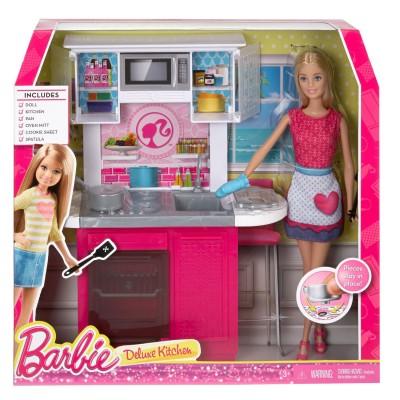 Mattel Poupée Barbie : La cuisine