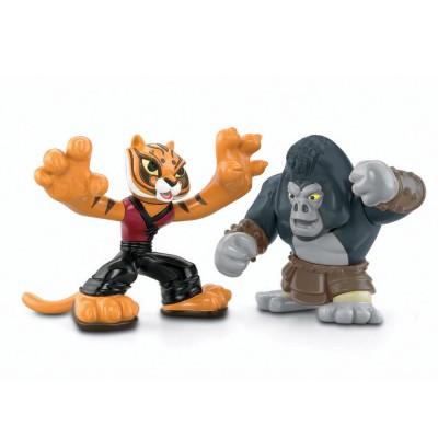 figurines kung fu panda 2 tigresse contre gorille mattel magasin de jouets pour enfants. Black Bedroom Furniture Sets. Home Design Ideas