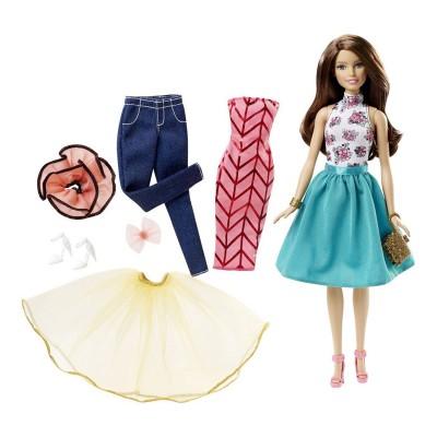 Mattel Poupée Barbie Tenues à combiner brune