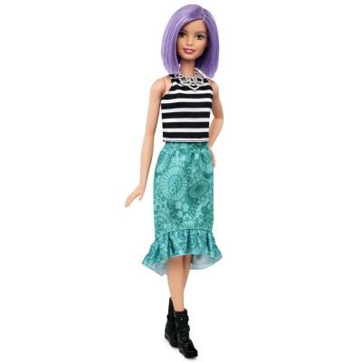 Mattel Poupée Barbie Fashionistas : Cheveux violets
