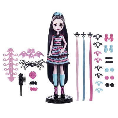Mattel Poupée monster high : draculaura créa-Coiffure