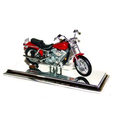 Maisto Modèle réduit Moto Harley-Davidson : Dyna Low Rider FXDL 2000 Rouge : Echelle 1/18