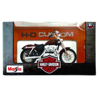 Maisto Modèle réduit Moto Harley-Davidson : 2012 XL 1200V Seventy two bordeaux : Echelle 1/18