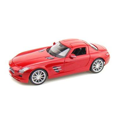Maisto Modèle réduit - Mercedes Benz SLS Gullwing - Première Edition - Echelle 1/18 : Rouge