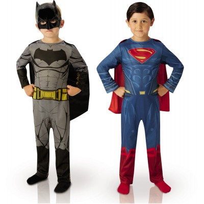 Rubie's Déguisement bipack batman et superman : dawn of justice : 7/8 ans