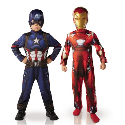 Rubie's Déguisement captain america et iron man : civil war : 7/8 ans