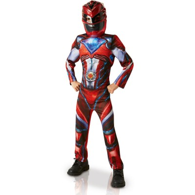 Rubie's Déguisement luxe power rangers movie rouge : 3-4 ans
