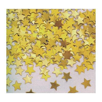 Rubie's Confettis Sac de 50 gr : Etoiles Métallisées jaune