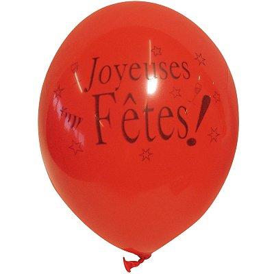 Rubie's Ballons de baudruche Joyeuses Fêtes : Sac de 10 ballons