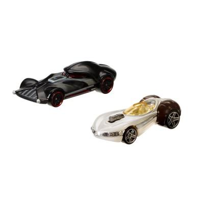 Hot Wheels véhicules hot wheels star wars : dark vador et princesse leia