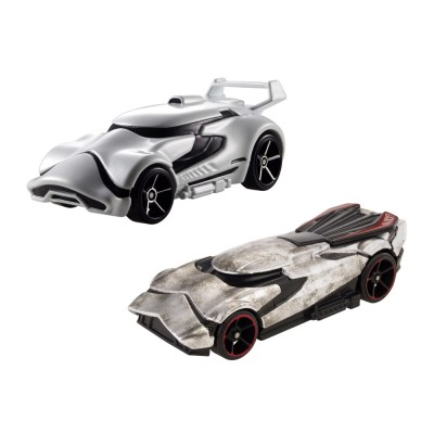 Hot Wheels Véhicules Hot Wheels Star Wars : Capitaine Phasma et Stormtrooper du Premier Ordre