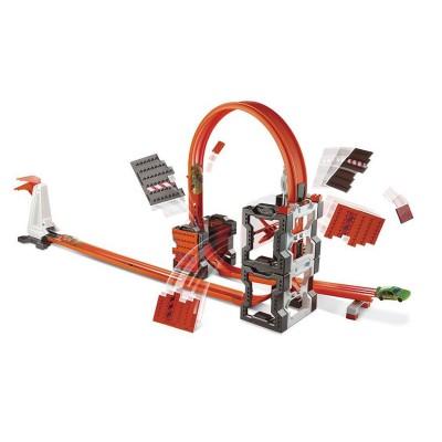 Hot Wheels circuit de voitures hot wheels : track builder : piste explosion briques