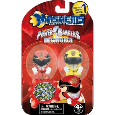 Imc Toys figurines power rangers mash'ems megaforce série 1 : rouge et jaune