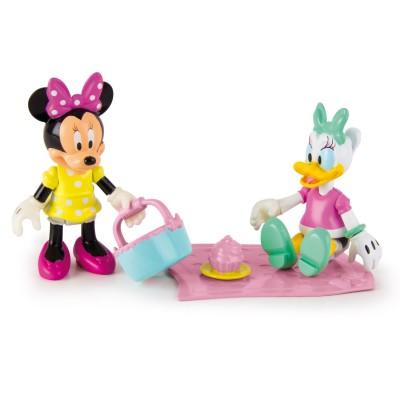 Imc Toys figurines disney : minnie et daisy en pique nique
