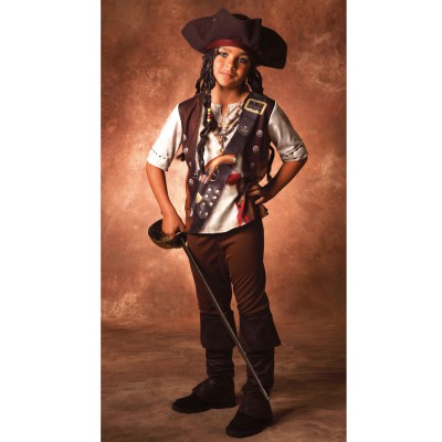 César Déguisement Pirate : Costume Illusion : 5/6 ans