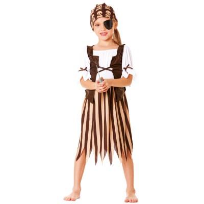 César Déguisement Pirate Girl : 5/7 ans