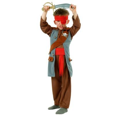 César Déguisement 3 en 1 : Indien, Cowboy, Pirate : 8/10 ans