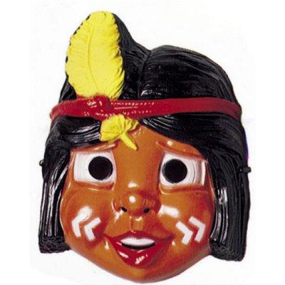 César Masque petit indien : indien plume jaune