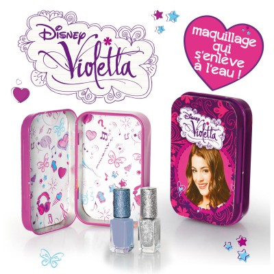 Giochi Preziosi Maquillage Violetta : Boîte en métal + 2 vernis à ongles gris