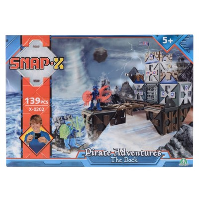 Giochi Preziosi Jeu de construction Snap-X : Bateau pirate