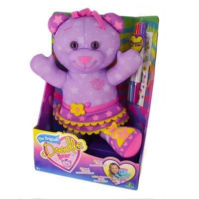 Giochi Preziosi Peluche Doodle Bear 40 cm à colorier : Violet