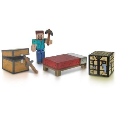 Giochi Preziosi Figurine Minecraft : Coffret Survie Steve