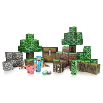 Giochi Preziosi Kit construction papier Minecraft : Pack Deluxe : 90 pèces