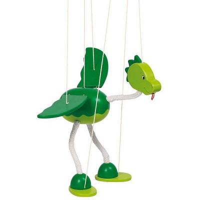 Goki Marionnette articulée dinosaure nepomuk