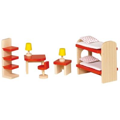 Goki Maison de poupées : mobilier chambre d'enfants