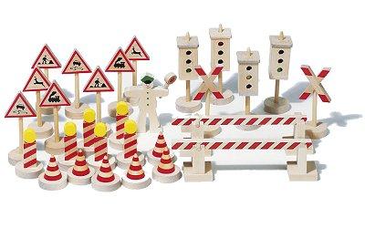 Goki 29 signaux routiers en bois