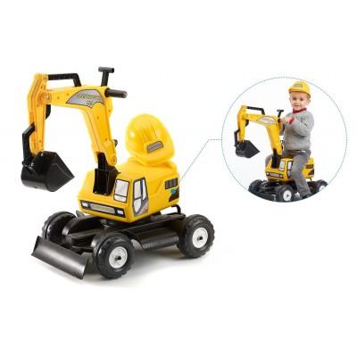 Falk / Falquet Tractopelle Excavator Constructor avec casque