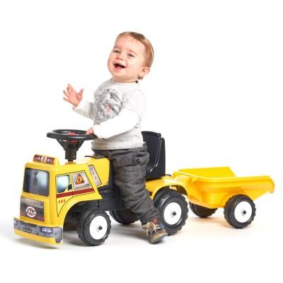Falk / Falquet Porteur Baby Constructor : Camion de chantier avec remorque