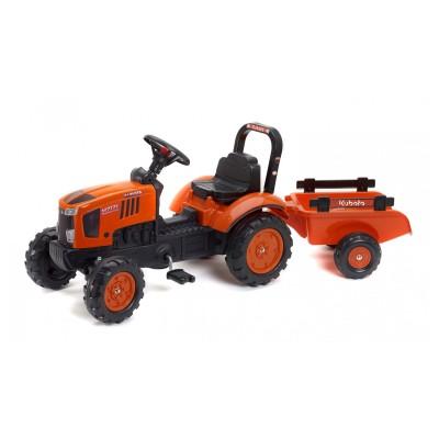 Falk / Falquet Tracteur à pédales Kubota M7171 et remorque