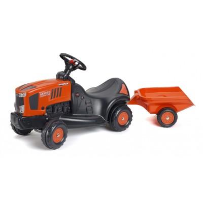 Falk / Falquet Porteur Tracteur Kubota M7151 et remorque benne 1080