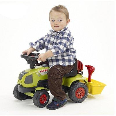 Falk / Falquet Tracteur Baby Claas Axos + Remorque et accessoires (sans pédales)